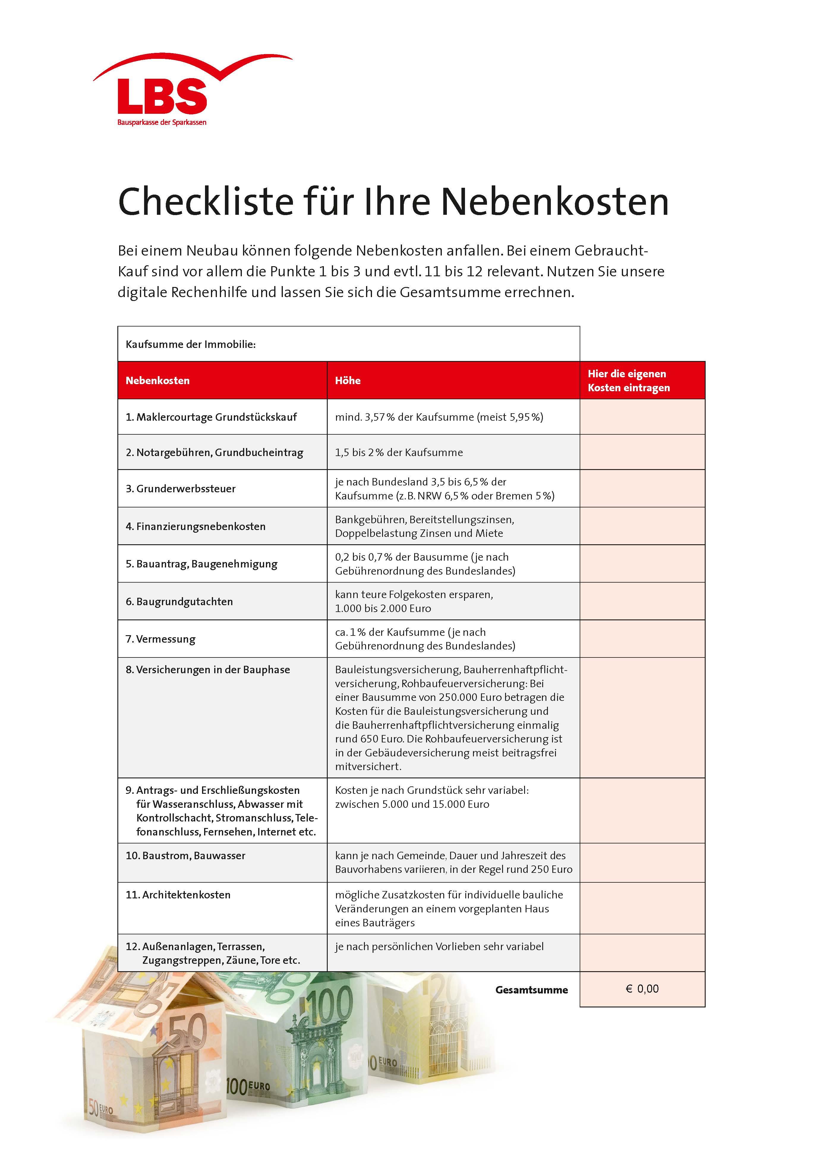 Lbs Checkliste Gibt Detaillierten Uberblick Zusatzliche